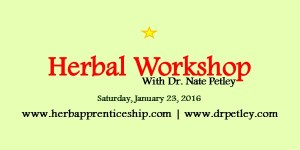 Herbal Workshop with Dr. Petley