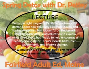 Fairfield Adult Ed Spring Detox lecture