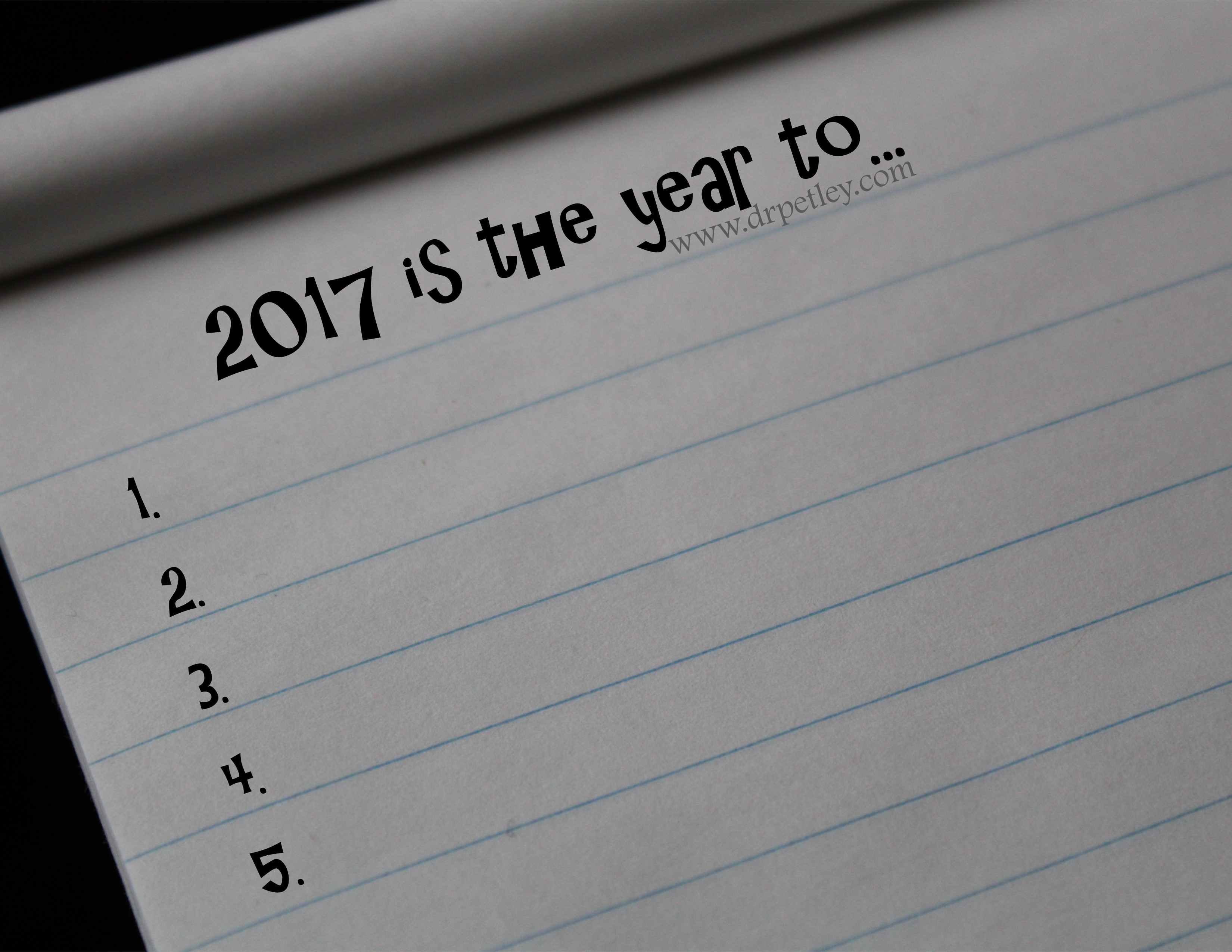2017: The Year to Be, The Year to Do